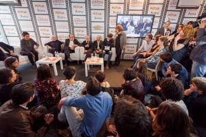 1-Carlo-Verdone-Daniele-Luchetti-Lina-Wertmuller-Roberto-Bigherati-Marzia-Mastrogiacomo-Laura-Delli-Colli-con-Andrea-Lattanzi-Ciak-si-Roma-il-Gioco-de-Lotto-RB-Casting-Festival-di-Roma-2014