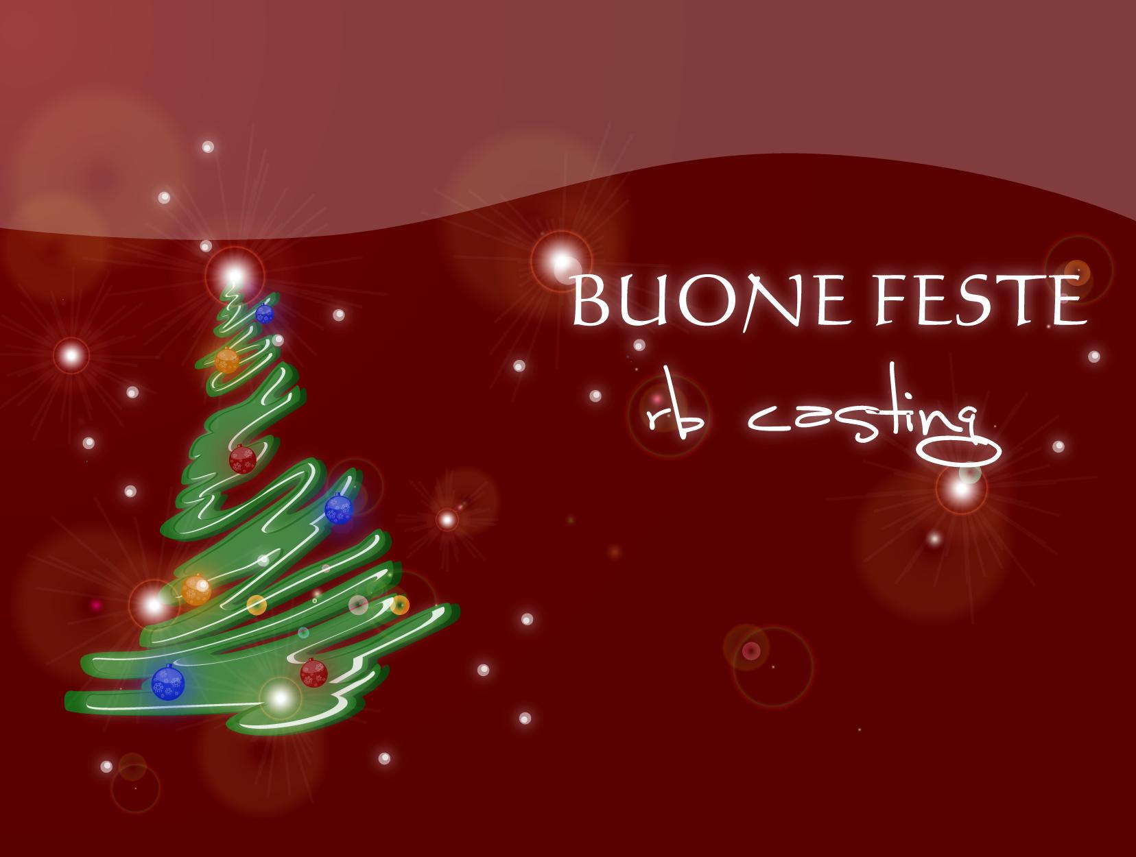 Immagini Feste Di Natale.435363 Buone Feste Rb Casting Albero Di Natale Firmato Rb
