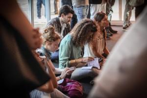 Attori-in-attesa-Lina-Wertmuller-Roberto-Bigherati-Ciak-si-Roma-Il-Gioco-del-Lotto-RB-Casting-Festival-di-Roma-2014