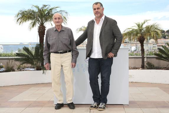 Claude Lorius & Luc Jacquet - Photocall - La Glace et le Ciel (Ice and the Sky) © FDC : Thomas Leibreich - Cannes 2015