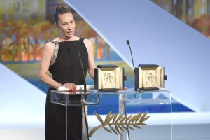 Emmanuelle Bercot - Best performance by an actress ex-aequo © AFP : Anne-Christine Poujoulat - Cannes 2015