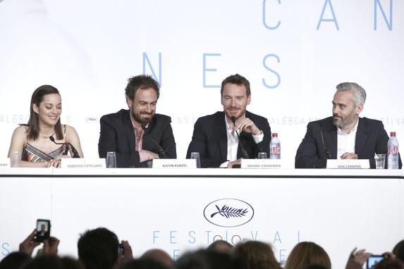 Film crew - Press conference - Macbeth © FDC : Cyril Duchene - Cannes 2015