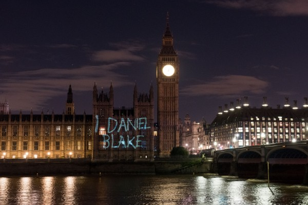 I, Daniel Blake - Projection Onto Houses Of Parliament