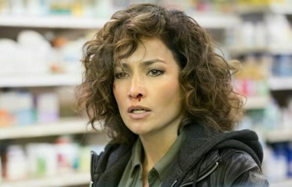 "SHADES OF BLUE – ""For I Have Sinned"" Episode 112 – Pictured: Jennifer Lopez as Det. Harlee Santos – (Photo by: Peter Kramer/NBC)"