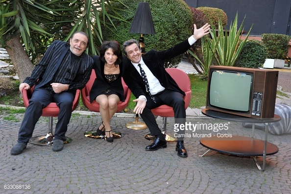 Nino-Frassica-Flavio-Insinna-Nathalie-Guetta-Dopo-Fiction-foto-Getty-Images-2017