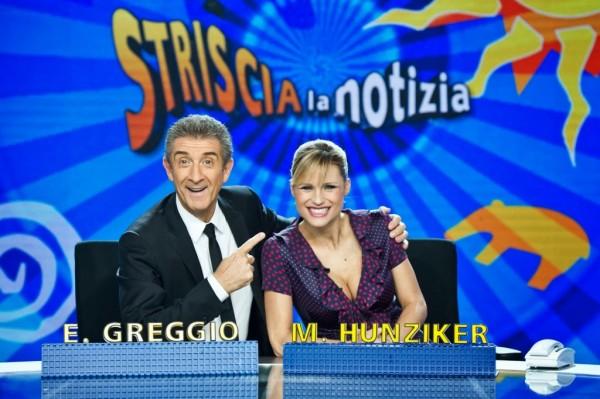 Striscia-la-notizia-Ezio-Greggio-Michelle-Hunziker-2014