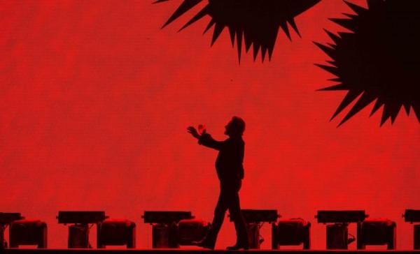 U2 in concert in Rome