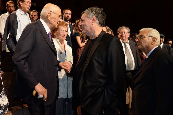 VENEZIA-72-GIORGIO NAPOLITANO-alla-proiezione-di-Rabin-The-Last-Day-di-Amos-Gitai-2015