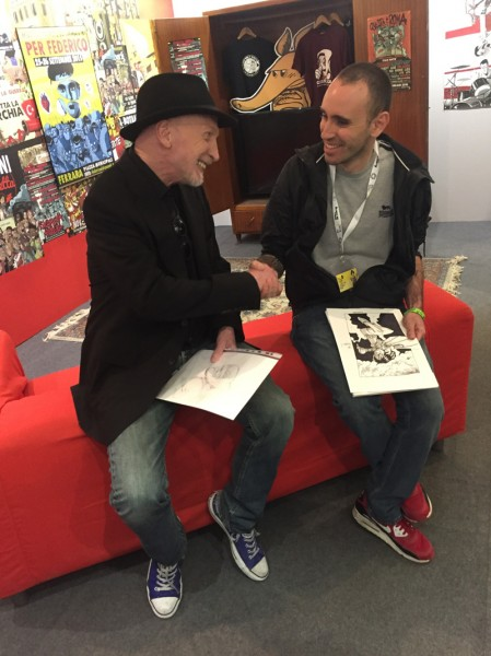 Zerocalcare-incontra-Frank-Miller-a-Lucca-Comics-and-Games-2016