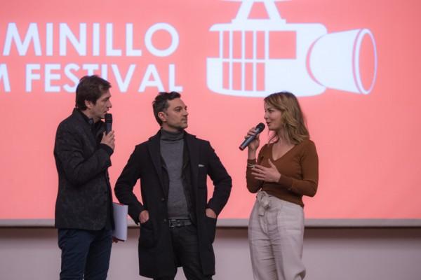 apolloni con il regista Massimiliano d'epiro e violante placido