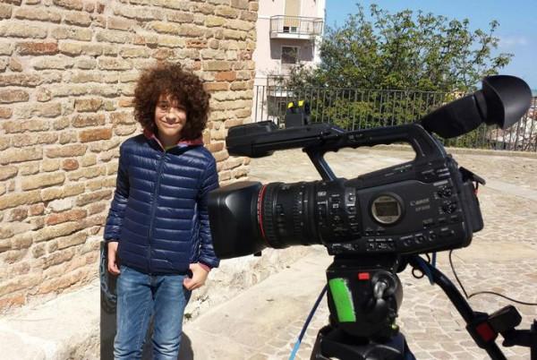 Francesco, il ragazzo che interpreta Giacomino nel cortometraggio di Ciak Junior sul bullismo 'Biciclette e Bulloni'