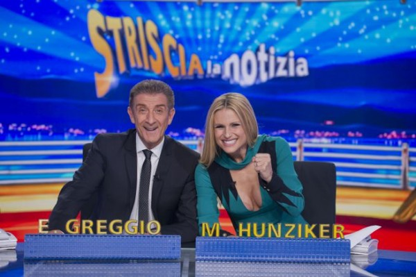ezio-greggio-e-michelle-hunziker-striscia-la-notizia-2016