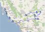 La mappa provvisoria del viaggio di Nino ed Emiliano